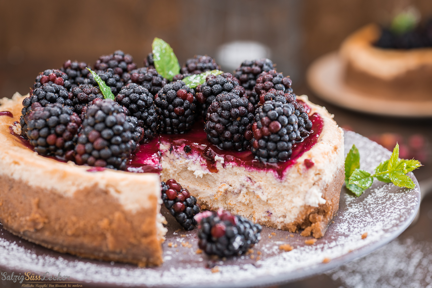 Blackberry-Goat-Cheese-Cake
