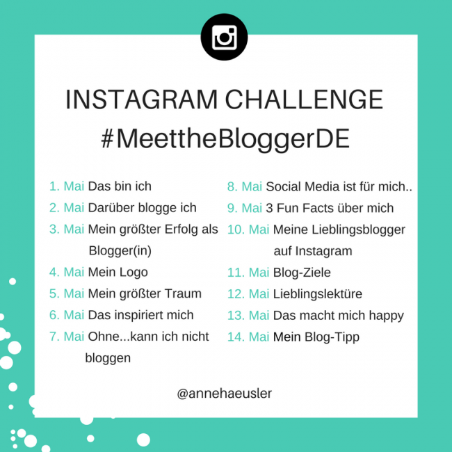 Challenge - meet-the-blogger